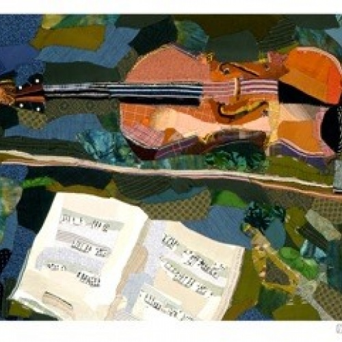 Viola - print of patchwork by Edrica Huws (1998)
