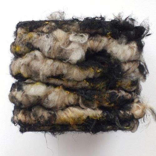 Paul Emmanuel Yellow horizontal painting (acrylic paint and fleece)  http://paulemmanuel.info/